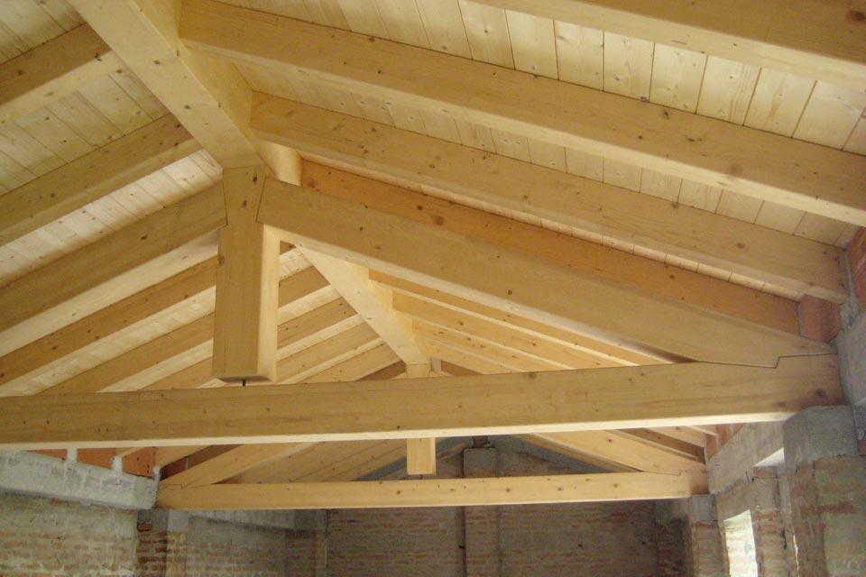 Tetti in legno lamellare silea legnami - Legno sbiancato tetto ...